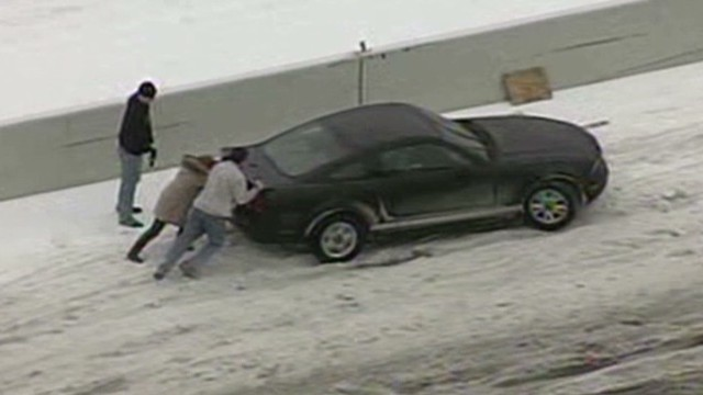 Winter ice storm in Southern states