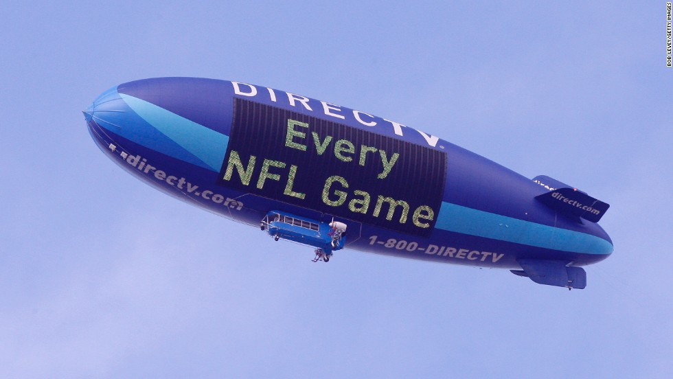 "<a href=""https://twitter.com/dtvblimp"" target=""_blank"">DIRECTV </a>began its airship promotion in 2007."
