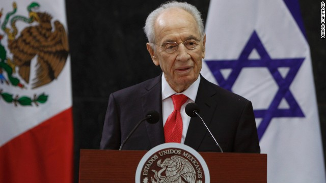 "President Shimon Peres reiterated Israel's position that it won't stand for Iran being a ""nuclear danger"" to the world."