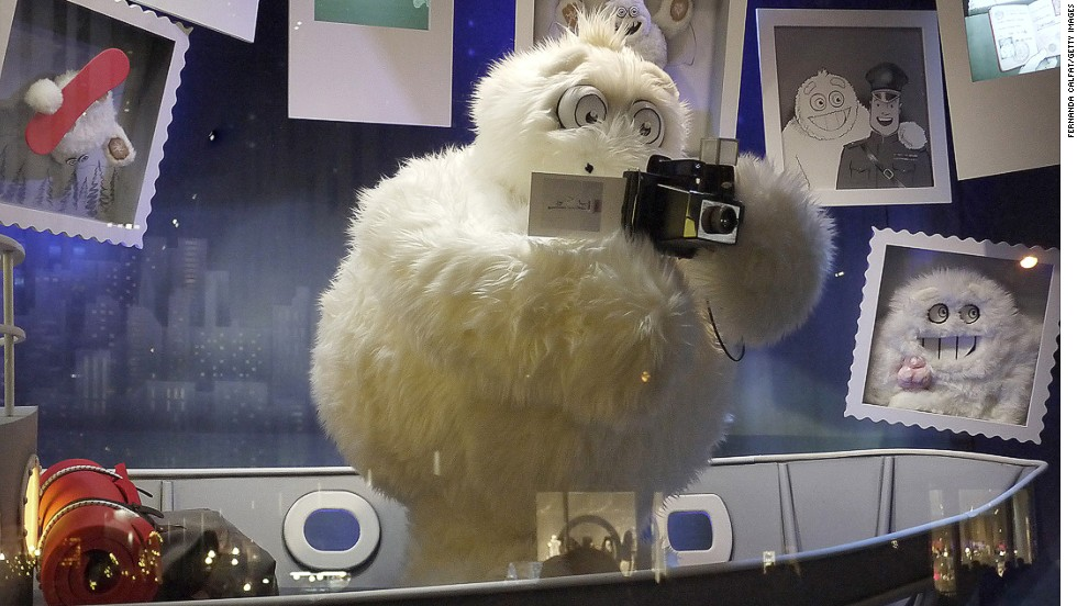 "<strong>""The Yeti Story,"" Saks Fifth Avenue, New York:</strong> Saks unveiled its windows with an elaborate 3-D light show that will be projected onto the store's exterior each evening."