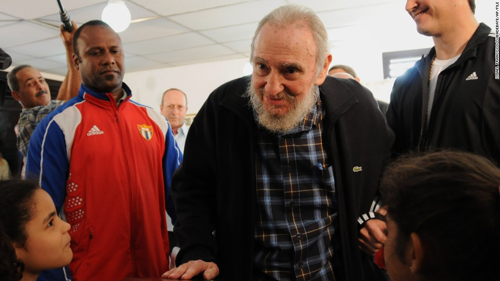 Mandela's longtime friend Fidel Castro, center, has not traveled outside Cuba since the health crisis that caused him to step down from office unofficially in 2006; he officially handed over the presidency in 2008. His brother, President Raul Castro, will attend the state funeral.