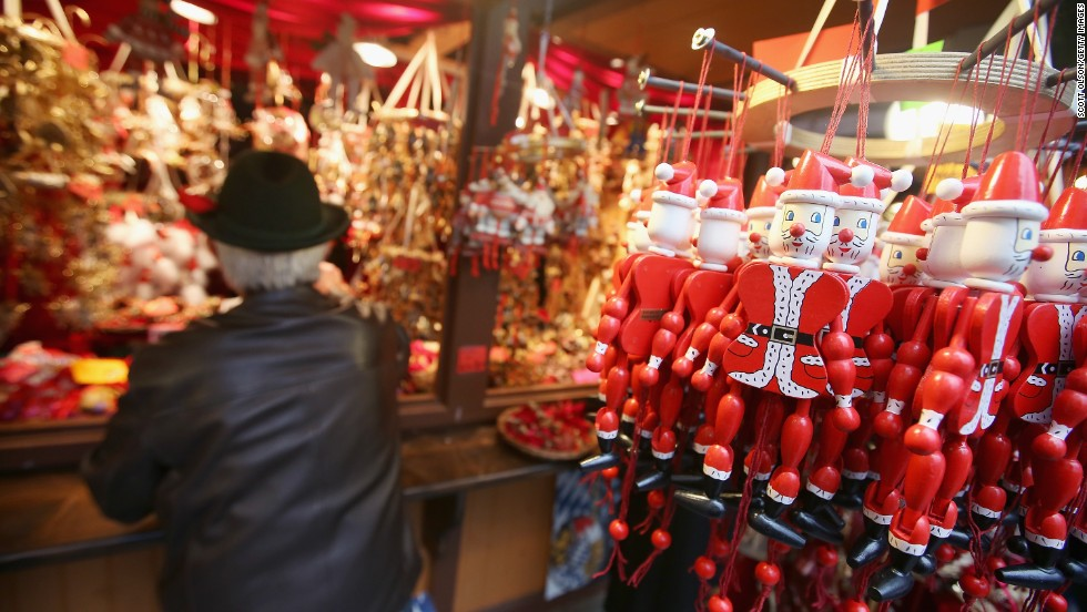 Wayne Wietbrock, a retired farmer from Lowell, Indiana, shops for Christmas ornaments at Christkindlmarket Chicago on December 4.