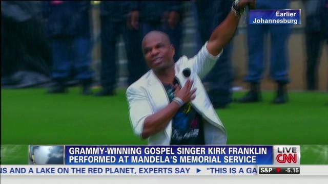Kirk Franklin sings at Mandela's service