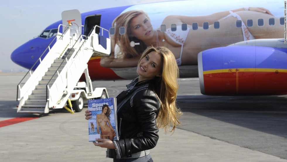 In 2009, Israeli model Bar Refaeli's bikini-clad image was emblazoned on a Boeing 737, which flew between New York and Las Vegas.