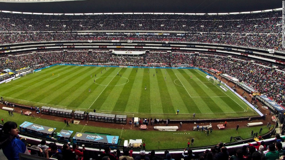 The home of Mexican football, the 105,000-capactiy Estadio Azteca hosted the 1970 and 1986 World Cup finals.
