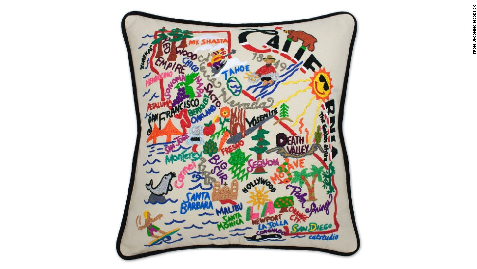 "The people who work with you at home -- babysitters, housekeepers and nannies -- often develop strong ties to your family. Choose gifts for them that play up your connection, like embroidered throw pillows from <a href=""http://www.uncommongoods.com/product/hand-embroidered-state-pillows?utm_medium=cpc&utm_source=google&gclid=CJeEk6S3prsCFfPm7AodDHcAGw"" target=""_blank"">Uncommon Goods</a> that celebrate the state where you live."