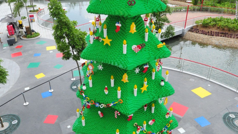 Built with 400,000 Lego blocks. Hey, did kids make this thing?