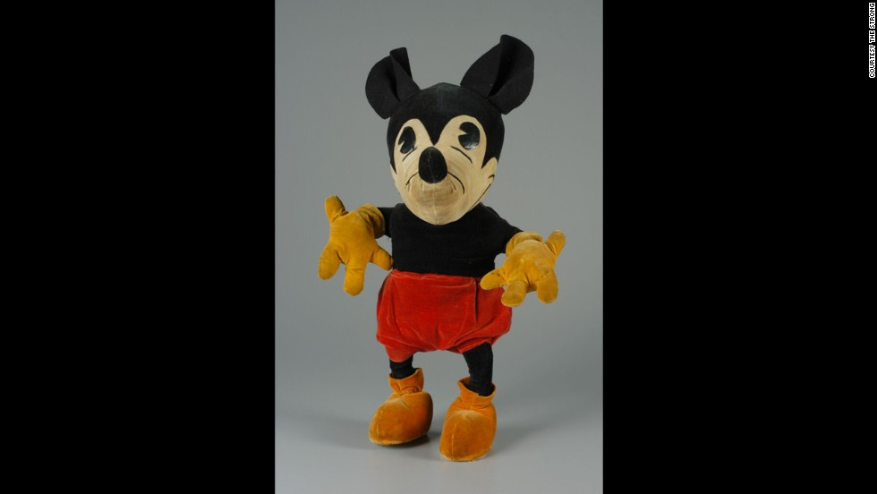 Mickey Mouse doll by Steiff Co. circa 1930. The Steiff Company worked with Disney over six years and in that time produced about 53,000 Mickey Mouse dolls.