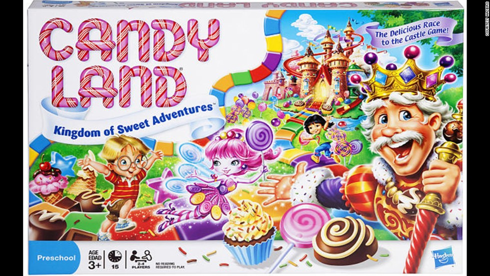 The Kingdom of Sweets Candy Land board game by Hasbro in 2010. As you can see the game has since been made over to become more appealing to children.