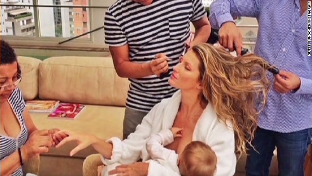 Model's pic sparks breast-feeding debate