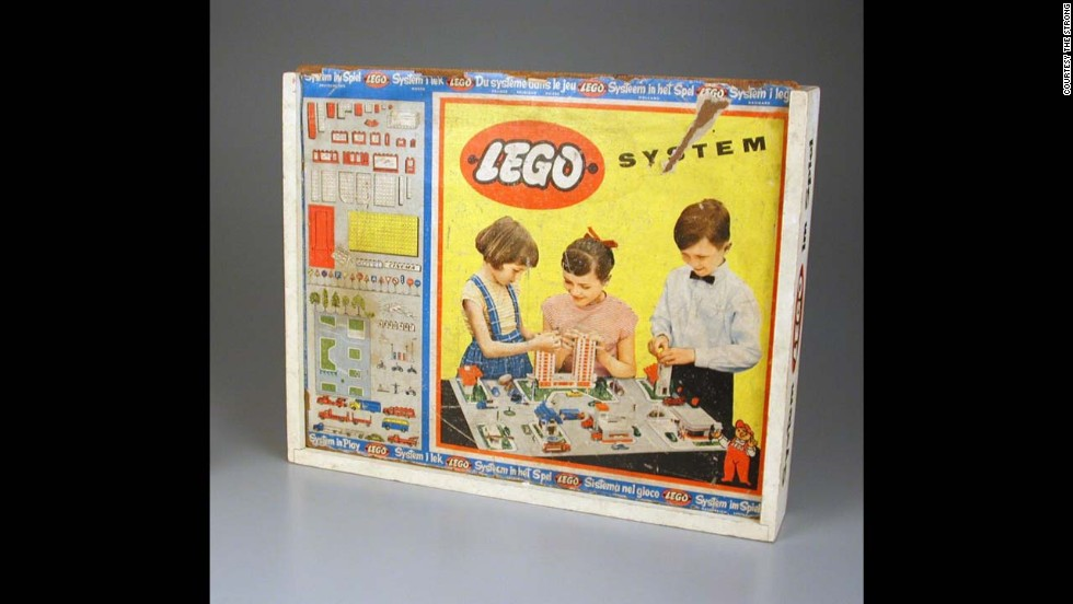 "Lego System construction set by Lego Systems, Inc. circa 1950. The Lego Group was founded in 1932 by Ole Kirk Christiansen. The actual company first began as a woodworking company, with its very first toy being a wooden duck. Later, Lego began making the plastic bricks that have started a future of architects. The word Lego actually comes from a Danish word meaning ""play well."""