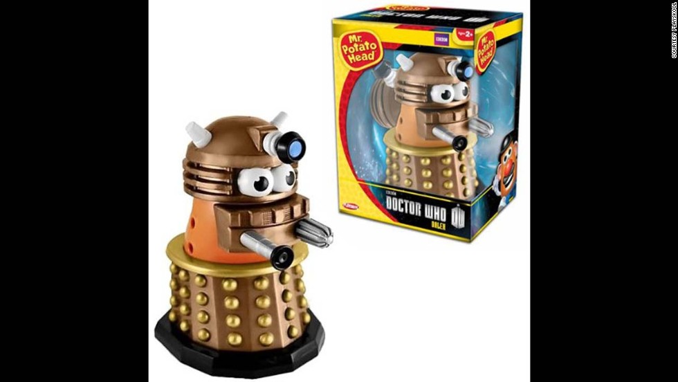 "Dalek Doctor Who Mr. Potato Head by Playskool in 2013. Mr. Potato Head now comes as many different characters and yet remains a ""nostalgia"" toy that crosses generations."