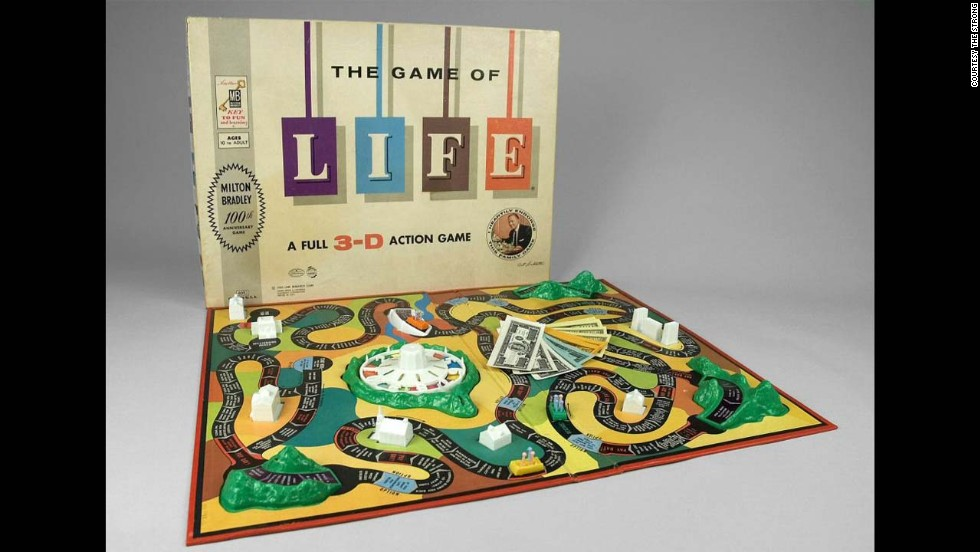 The Game of Life by Milton Bradley in 1960. Inspired by one of Milton Bradley's old Checkered Game of Life game boards from the Civil War, inventor Reuben Klamer brought the game to life to celebrate the company's 100-year history in 1960. While the 1866 version has a similar name, the game is not centered around money, it is about virtue and morality.