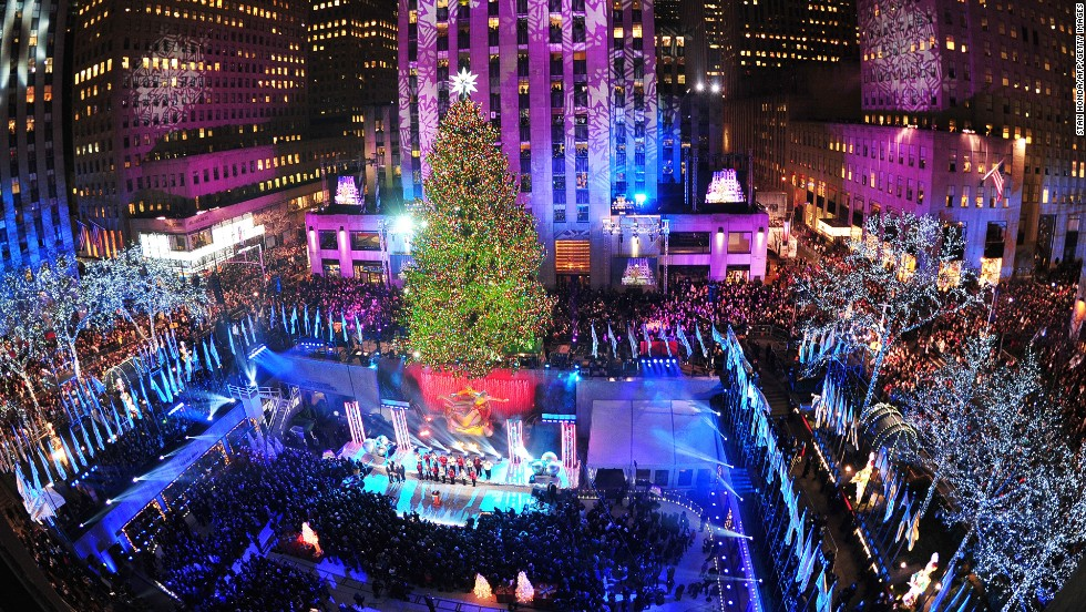 Rockefeller Center's ice rink has been around for 77 years; the decorated tree is an 80-year-old tradition.