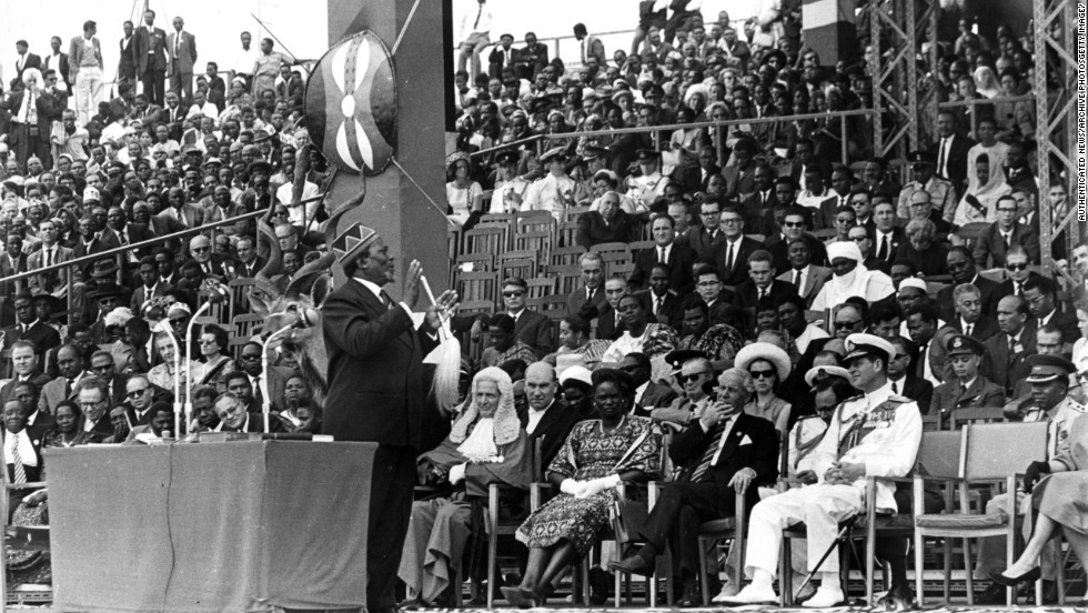 """Kenya gained independence from Britain in 1963. It  is now one of East Africa's leading economies. """"Kenya's 50th independence celebrations come at a moment of great economic promise for the continent,"""" says Juma."""