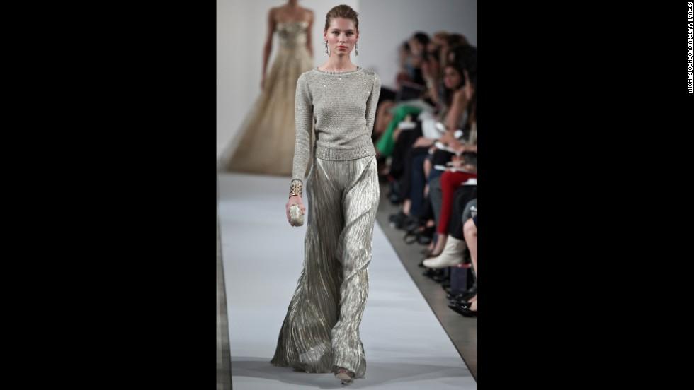 "Silver lamé, a modern resortwear trend, has long been considered a ""festive"" fabric."