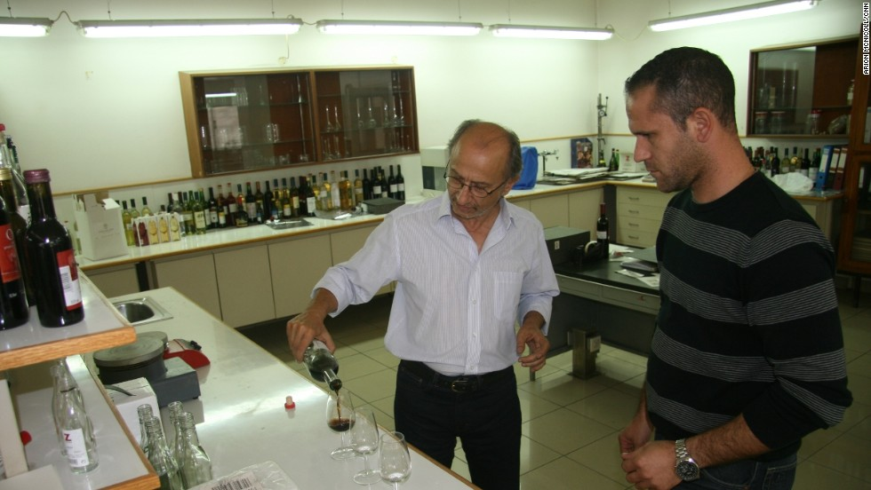 KEO's senior winemaker George Metochis (left), and Antoniou Dimitris, the senior oenologist oversee production of 100,000 litres of commandaria every year.