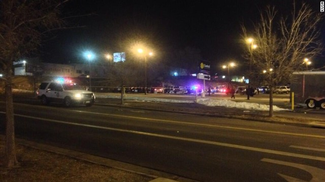 At least three people were stabbed late Thursday in the parking lot next to Sports Authority Field in Denver.