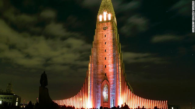 The area around Reykjavik's Hallgrimskirkja church will have bonfires and fireworks.