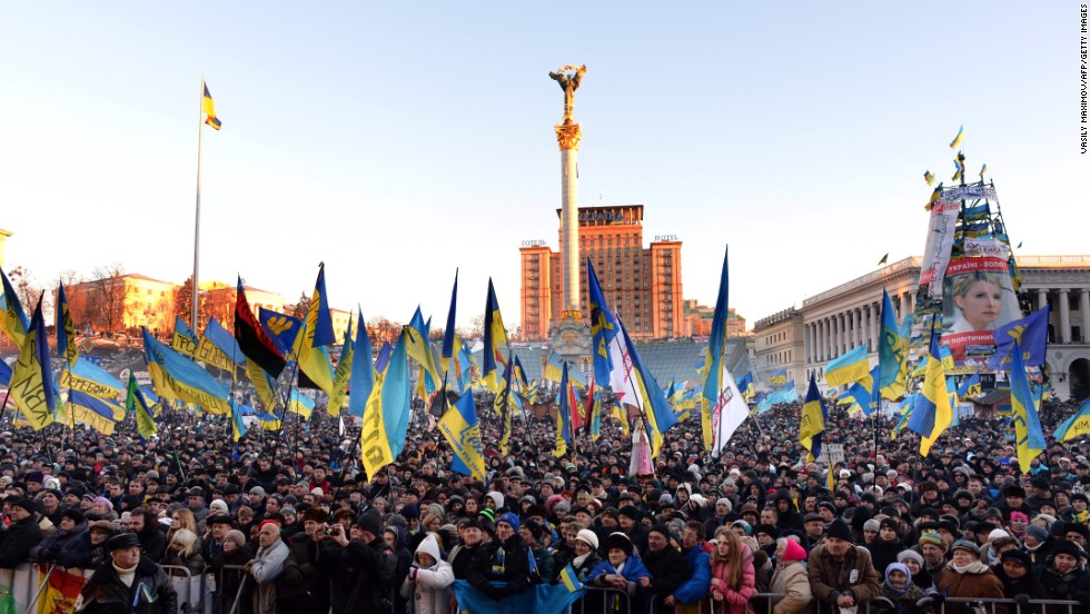 Demonstrators by the thousands rally in Independence Square on Saturday, December 14.
