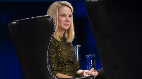 Yahoo CEO Marissa Mayer speaks at the DreamForce Conference in San Francisco on Nov. 19, 2013.
