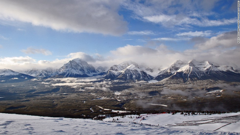 """Lake Louise is in gorgeous Banff National Park. BC's Whistler Blackcomb got a """"best in North America"""" nod from SKI Magazine last year. Heli-skiing? That all started in the Canadian Bugaboos, still one of the best places to do it."""