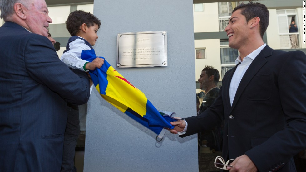 The museum was officially opened by Ronaldo and his young son, Cristiano Junior.