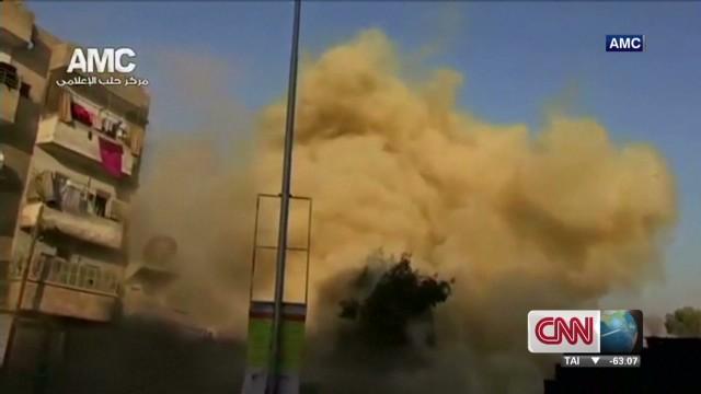 Barrel bombs kill 83 in Syria air raid