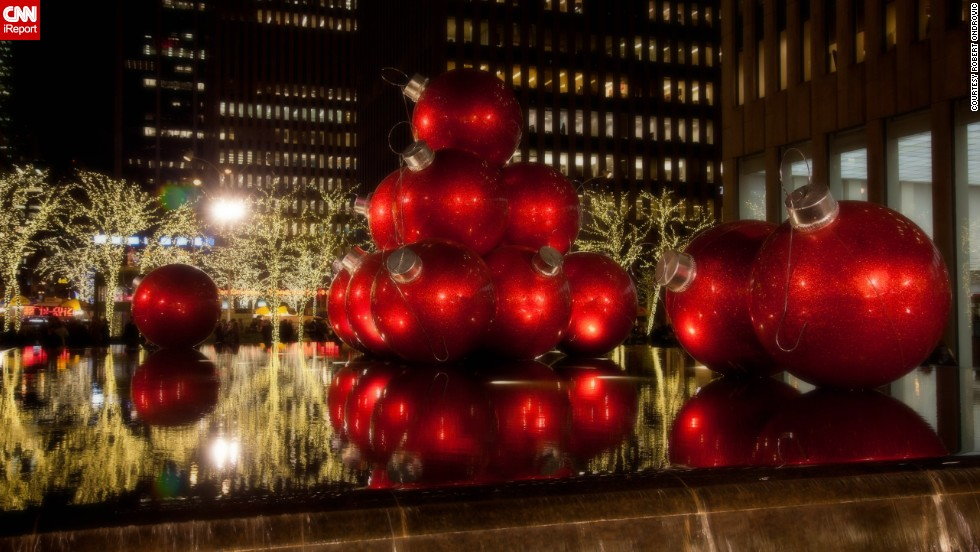 """To <a href=""""http://ireport.cnn.com/docs/DOC-1067204"""" target=""""_blank"""">Robert Ondrovic</a>, Christmas in New York City is always magical, """"with the Radio City show, the Rockefeller Center tree with the ice skaters below, the window displays along fifth avenue and the overall spirit in the air with all the visitors this time of year."""""""