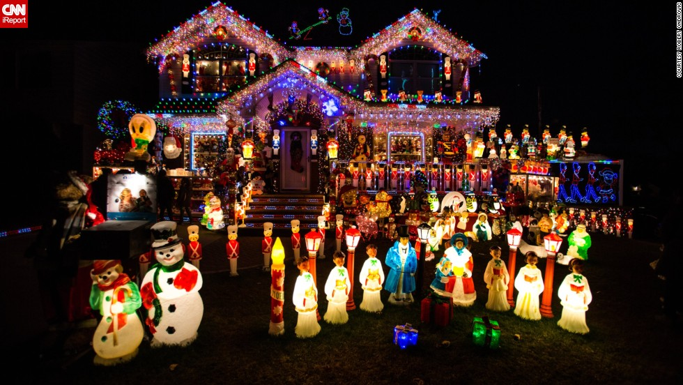 "There are people who love Christmas, and then there are people who go crazy for Christmas. Just look at this elaborately decorated home in Queens, New York, by retired firefighter Kevin Lynch and photographed by <a href=""http://ireport.cnn.com/docs/DOC-1066874"" target=""_blank"">Robert Ondrovic</a>. He says Lynch has been decorating his home for the past 17 years."