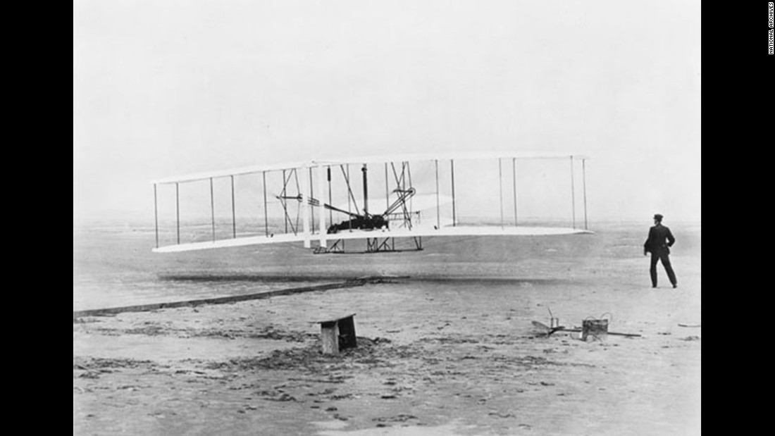 Aviation pioneers Orville and Wilbur Wright made history December 17, 1903, with the first powered and sustained flight. The historic moment took place in Kitty Hawk, North Carolina.