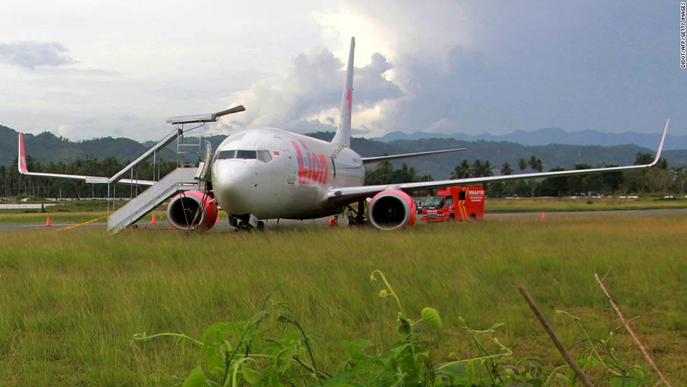 "Upon landing at Jalaluddin Airport in Indonesia, a Lion Air Boeing 737 collided with and killed a cow that had wandered onto the runway. ""Inadequate fencing"" was blamed."