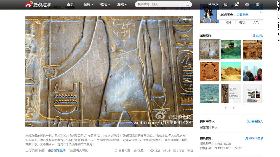 "National backlash erupted when a Chinese tourist carved his name on Egypt's 3,500-year-old Luxor Temple; then Chinese tourists posed giddily with a dying dolphin in southern China. Vice Premier Wang Yang called on citizens to improve their manners and project a ""good image of Chinese tourists."""
