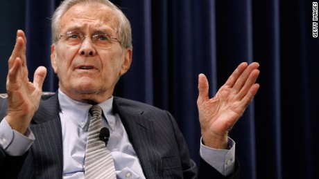 Former U.S. Secretary of Defense Donald Rumsfeld in 2011.