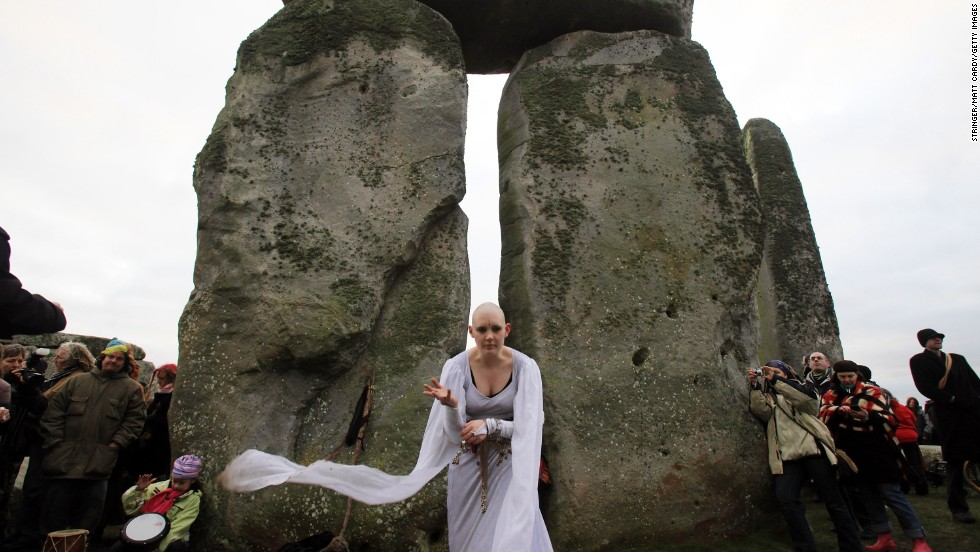 The stones are a magnet to assorted druids, pagans and other revelers at winter and summer solstice.