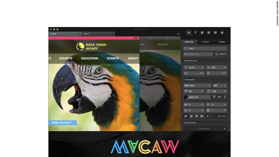 "<strong>6. <a href=""http://www.kickstarter.com/projects/macaw/macaw-the-code-savvy-web-design-tool"" target=""_blank""><strong></strong>Macaw - Visual Web Design Tool</a></strong>"