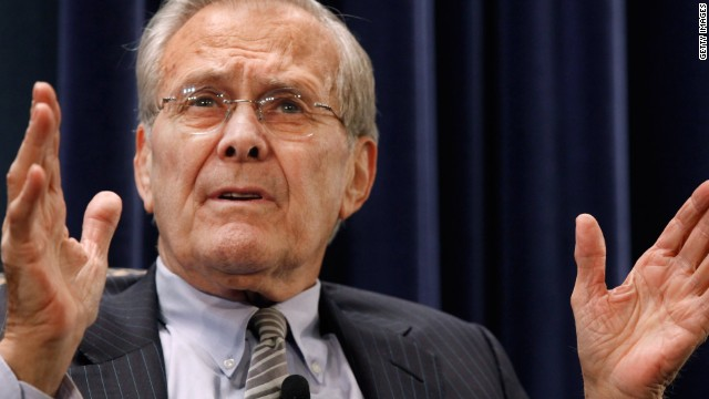 "2013: ""History's going to judge"" Rumsfeld"