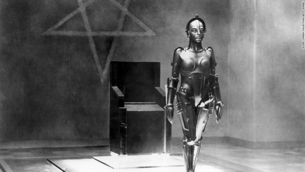 "German actress Brigitte Helm (1906 - 1996) as the ""Maschinenmensch,"" the robot double of Maria, in 1927's classic film ""Metropolis,"" directed by Fritz Lang."