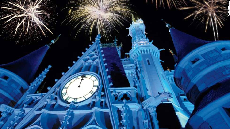 Most evenings at Orlando's Walt Disney World go off with a bang, but the entertainment on New Year's Eve is particularly spectacular. Disney World fills up fast, so it's wise to arrive early.