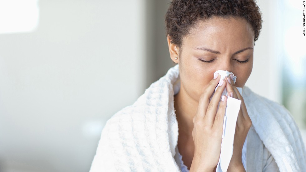 """<strong>Myth: Allergies go away in the winter</strong><br /><br />Allergies might be the real source behind your stuffy nose and scratchy throat this season. According to the Asthma and Allergy Foundation of America, one in five people suffer from indoor/outdoor allergies, and the indoor variety can actually be worse in the winter. Pets don't spend as much time outdoors, shut windows seal in poor air quality, and many molds even thrive in the winter, Vreeman says. <br /><br />If your symptoms last longer than 10 days or ease up after taking an antihistamine, it might be time to visit an allergist. <br /><br /><a href=""""http://www.health.com/health/gallery/0,,20307349,00.html"""" target=""""_blank"""">Health.com: 15 hypoallergenic dogs and cats</a> <br />"""