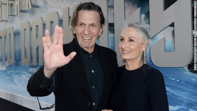 "Leonard Nimoy arrives at the ""Star Trek Into Darkness"" premiere in May 2013."