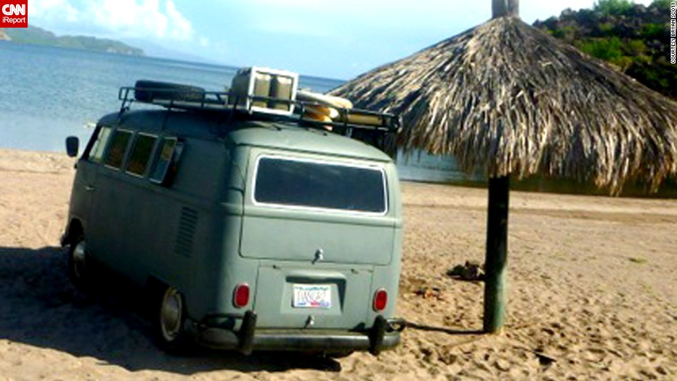 "Kombis became the vehicle/hangout of choice for surfers and hippies in the 1960s. ""The Kombi exemplifies the free spirit of peace activists, lovers, world travelers and campers,"" says Garfield."