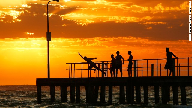 This file image from 2009  is the sort of scene you would expect posted to Facebook. The pier and surrounding St Kilda area are one of Melbourne's most popular spots