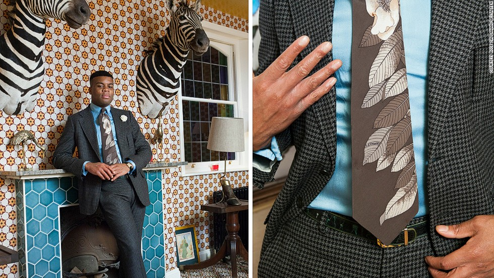 <em>Barima Owusu-Nyantekyi </em><br /><br />Barima is an English/Ghanian dandy who lives in London and works in architecture and interior design. His personal style harks back to the late 60's and early 70's and he wears colorful, wide-lapelled, boot-cut suits that give him the look of a surprisingly slick and flamboyant politician. <br />