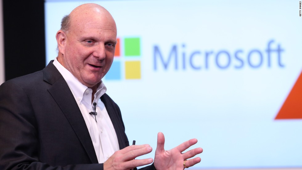 "<strong>Microsoft buys Nokia, says bye-bye to Ballmer : </strong>Microsoft made some major moves this year as it attempted to break into the mobile market. In addition to updates for its still-young desktop, tablet and mobile operating systems, the company <a href=""http://money.cnn.com/2013/09/03/technology/mobile/microsoft-nokia/"" target=""_blank"">bought Nokia's phone division</a> and announced the <a href=""http://money.cnn.com/2013/08/23/technology/enterprise/microsoft-ballmer-retire/"" target=""_blank"">departure of longtime CEO Steve Ballmer</a>."