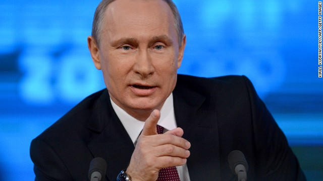 Russia's President Vladimir Putin in Moscow on December 19, 2013.