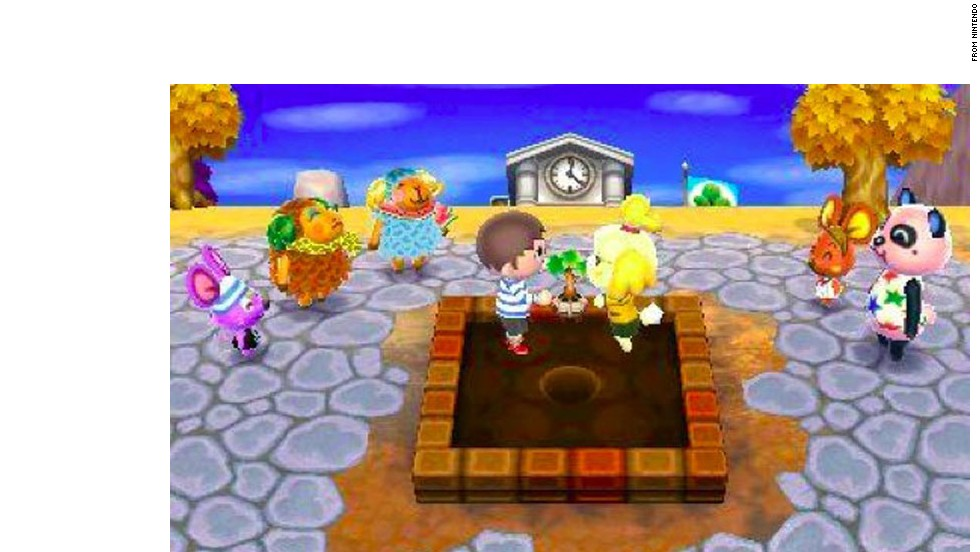 "As mayor of a small town full of animal characters, ""Animal Crossing: New Leaf,"" for Nintendo's 3DS will soak up huge chunks of time as you plant, build, collect and shop your way to municipal glory. Every day in the game is like a day in your real life -- something different is always going on."