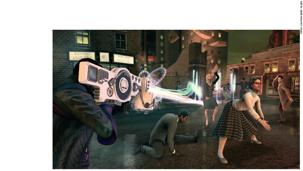 """Want some shooter action but nothing too serious? How about nothing even vaguely serious? """"Saints Row IV"""" pokes fun at everything from the presidency to game shows. Completely tongue in cheek, but full of amazing action."""