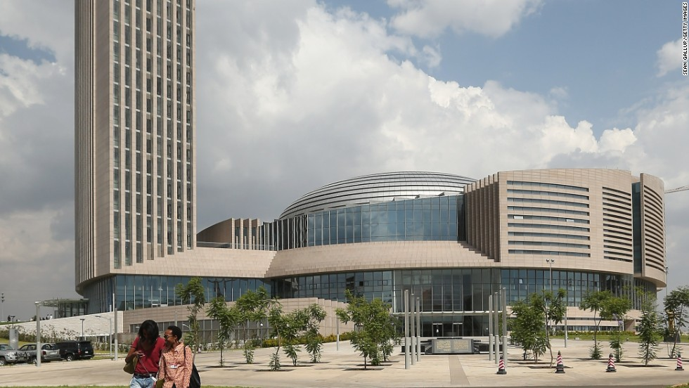 The headquarters of the African Union (AU) in Addis Ababa, Ethiopia, was built with $200 million of Chinese state funds.