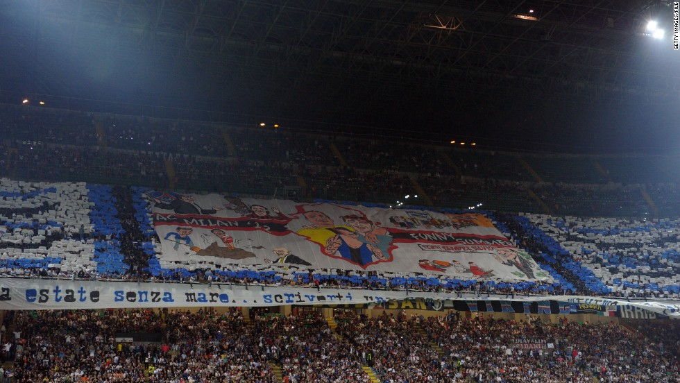 The closure is punishment for offensive chants aimed at Napoli fans by Inter supporters during their match last weekend. It means a banner a group of their most vociferous fans were working on will not be displayed.